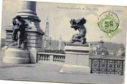 Exposition Universelle De Liège 1905 Pont De Fragmée + Timbre   Recto Verso Carte Officielle De L'Expo - Luik