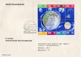 FDC Kleinbogen Mi. 926/933 Weltraumflug - [6] Democratic Republic