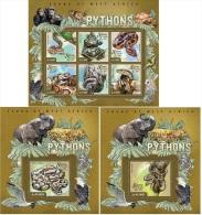 Sierra Leone 2015 Python Snakes Reptiles MS+S/S Set SL15017 - Postzegels