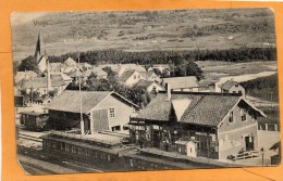 Voss Railroad Station Norway 1910 Postcard - Norvegia