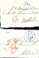 Año 1836-8  Prefilatelia 2 Frontales Cadiz A Madrid   Marcas Cadiz Llegada Y  Porteo 6 - ...-1850 Prefilatelia