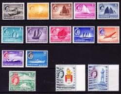 Singapur Malaya 1955/59 SG.# 38-52 ** Kpl. Serie - Singapour (...-1959)
