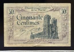 Billet De Cinquante Centimes Chambre De Commerce De La Marne   FRM 23 - Chambre De Commerce