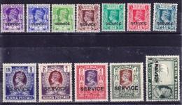 Burma Official 1939 SG.#0 15-0 27 Service * (Ohne 2 A Auf 6 P überdruckt) - Birmanie (...-1947)