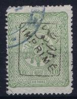 Turkey 1892 Imprimé Newspaper Mi 74 Used  Isf 162 - Gebruikt