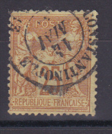 SAGE N° 92 CACHET CONSTANTINOPLE - 1876-1898 Sage (Tipo II)