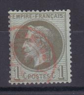 NAPOLEON N° 25 CACHET ROUGE COTE 45€ - 1863-1870 Napoleone III Con Gli Allori