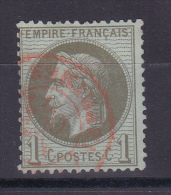 NAPOLEON N° 25 CACHET ROUGE COTE 45€ - 1863-1870 Napoléon III Con Laureles