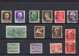 ITALIA: Serie Di 14  Francobolli USATI - Regno E  Repubblica Sociale Italiana (non Completa) - 4. 1944-45 Repubblica Sociale