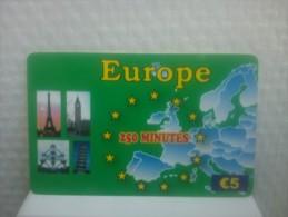Prepaidcard Belgium  Europe Used 5 euro