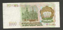 RUSSIA - RUSSIAN FEDERATION - 1000 / 500 / 100  ROUBLES (1993) LOT Of 3 BANKNOTES - Russia