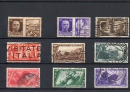 ITALIA: Serie Di 9  Francobolli USATI - Regno E  Repubblica Sociale Italiana (non Completa) - 4. 1944-45 Repubblica Sociale