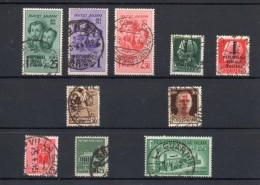 ITALIA: Serie Di 10  Francobolli USATI - Regno E  Repubblica Sociale Italiana (non Completa) - 4. 1944-45 Repubblica Sociale