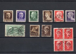 ITALIA: Serie Di 13  Francobolli USATI - Regno E  Repubblica Sociale Italiana (non Completa) - 4. 1944-45 Repubblica Sociale