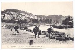 CPA Rouen 76 Seine Maritime Péniche Benjamin  à Quai Côte Sainte Catherine édit LL N°89  Très Bon état - Rouen