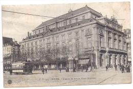CPA Rouen 76 Seine Maritime Théâtre Des Arts Cours Boïeldieu Tramway Pub Maggi édit CV N°435 Bon état écrite 1907 - Rouen