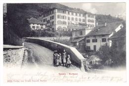 AK CH GR SEEWIS Kurhaus 12.7.1906 Ges. Foto Ursula Fausch - GR Grisons