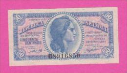 ESPAGNE - 50 Centimos  De 1937 - Pick 93 NEUF - [ 3] 1936-1975 : Régence De Franco
