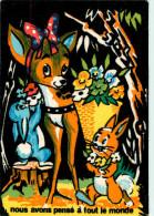 Walt Disney - Disneyworld - Bambi -Nous Avons Pensé à Tout Le Monde -Velours - Feutrine- Carrière, Perpignan-Séphériades - Disneyworld