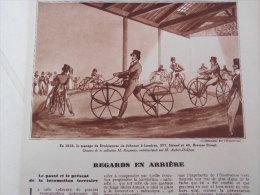 Article De Presse- Manège De Draisiènnes En 1819 , Le Charvolant En 1826, Conduite Intérieure De 1889 -1936 - 3 Pages - - Documents Historiques