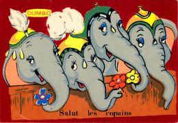 Walt Disney - Disneyworld - Eléphants - Dumbo - Salut Les Copains- Velours - Feutrine -Carrière, Perpignan - Séphériades - Disneyworld