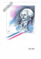 Carte Moderne - Bicentenaire Révolution Française - Maximilien De ROBESPIERRE Dessin Hervé Le Graët 1789/1989 - Histoire