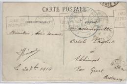 WW1 WWI Carte Adressée Aux Zones Occupées Et Retournée - Marcofilie (Brieven)