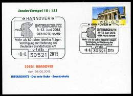 91212) BRD - SoST-Karte 10/133 - 30521 HANNOVER Vom 08.06.2015 - INTERSCHUTZ - Der Rote Hahn - Brandschutz - Marcophilie - EMA (Empreintes Machines)