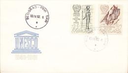 YUGOSLAVIA FDC MICHEL 992-993 , EGYPT,UNESCO - FDC