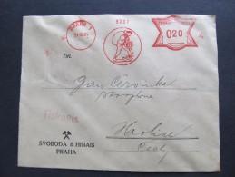 FRANKOTYPE Freistempel Praha Bergwerk Bergbau Svoboda Hinais 1934 // T5247 - Briefe U. Dokumente