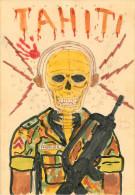 Polynésie Française - Tahiti - Militaria - Militaires - Dessins - Dessin Fait Par Un Militaire Basé à Tahiti - état - Polynésie Française
