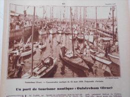 - Article De Presse- Régionalisme - Port De Tourisme - Ouistreham - église - Yacht, Canal De Caen -1936 - 2 Pages - - Historische Dokumente