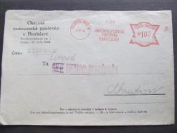 FRANKOTYPE Freistempel Bratislava 1935 Okresna Nemocenska  // T5254 - Tschechoslowakei/CSSR