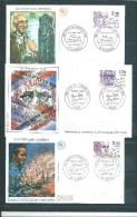 6 Envelloppes  Premier  Jour  Personnages Célèbres 85 N°2355 A 2360  23/02/1985 - Non Classificati