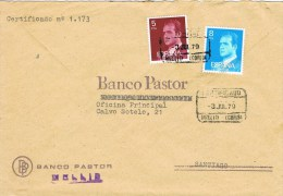 13557. Carta Certificada MELLID (Coruña) 1979 - 1931-Hoy: 2ª República - ... Juan Carlos I