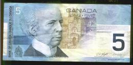CINQUE DOLLARI CANADESI - Anno 2002 - Kanada