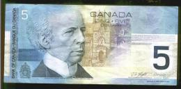 CINQUE DOLLARI CANADESI - Anno 2002 - Canada