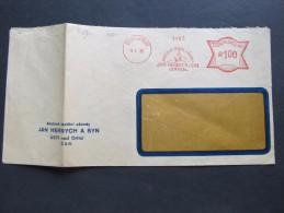 FRANKOTYPE Freistempel Usti Nad Orlici 1933 Hernych Steinbock // T5269 - Tchécoslovaquie