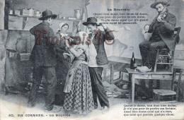 (19) Types Du Pays Paysannes Paysans Fermiers Danse La Bourrée - 2 SCANS - Fermes
