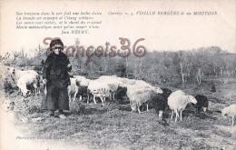 (19) Types Du Pays Paysanne Fermiere - Bergère Fileuse Et Son Troupeau De Moutons éd. à Brive - Poésie De Nesmy  2 SCANS - Fermes