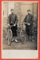 CPA CARTE-PHOTO MILITARIA Deux Soldats Cyclistes (bataillon Cycliste) à 62 MONDICOURT Pas-de-Calais Militaires - Militaria