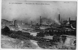 71  LE CREUSOT  ENSEMBLE DES USINES  COTE OUEST - Industrie