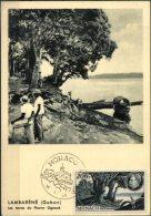 MONACO, 1955, 80TH ANNIVERSARY OF DOCTOR ALBERT SCHWEITZER, YV#A.59, MAXIMUM CARD - Maximumkarten (MC)