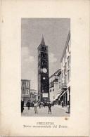 Lazio-velletri-velletri Veduta Torre Monumentale Del Trivio Animata Primi 900 - Velletri