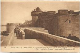 I3232 Saint Malo - Tour Qui Qu'en Grogne Et Le Petit Donjon - Chateau Castillo Castello Castle Schloss / Non Viaggiata - Saint Malo