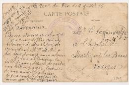 LA TOUR DU PIN, Isère, Hopital Temporaire Sur CP En Franchise. - Marcophilie (Lettres)