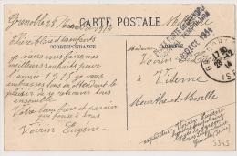 Lycée De Garcon, Cours Lafontaine, Place Forte De GRENOBLE, Isère, Hopital Temporaire Sur CP En Franchise. CP 3 - Marcophilie (Lettres)