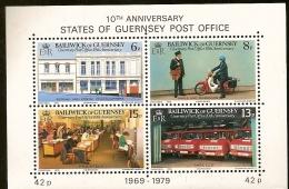 Guernsey ** & 10 Aniversário Dos Correios Postais 1969-1979 (2) - Post