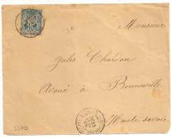 Type A ST MICHEL DE MAURnne Savoie, Bloc Dateur Baton, Sur DEVANT Au Type SAGE. - 1876-1898 Sage (Type II)