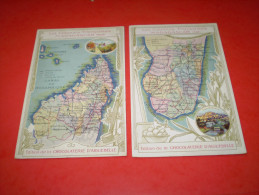 Chocolat Aiguebelle, Drôme : Colonies Françaises : Madagascar Nord & Sud : Tananarive & Fianarantsoa . Chromo Ou Carte - Aiguebelle